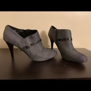 Nine West Gray Low Cut Bootie